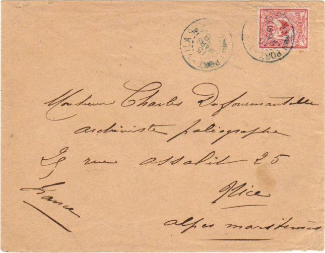 Letter to France, 10c New Caledonia kagu stamp paying the French colonial letter rate